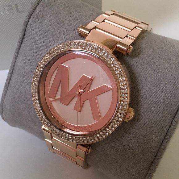 300c227cd090 Michael Kors Parker Rose Gold Tone Watch MK5865. M 5a8dae5c46aa7c093feee198
